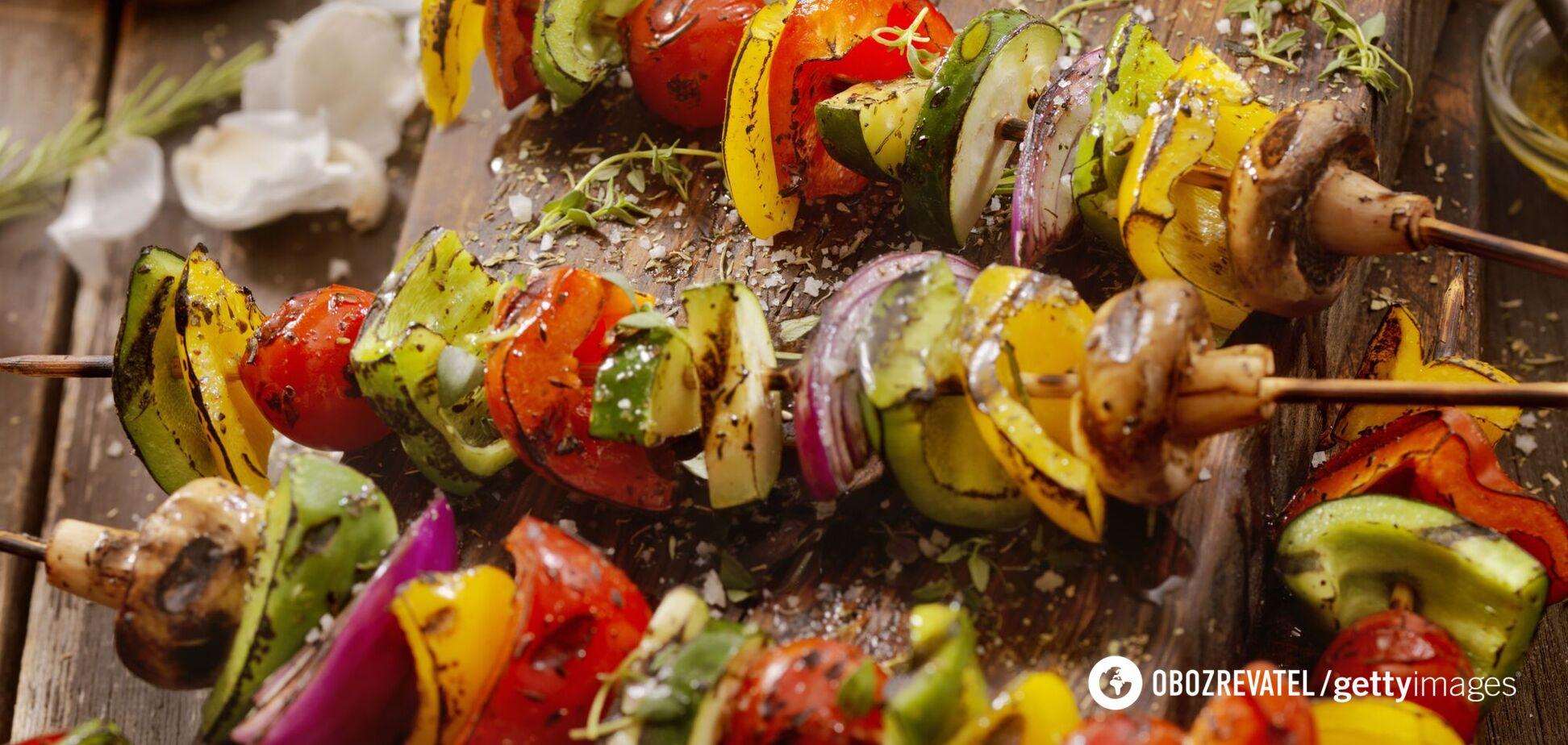 Овочевий шашлик на шампурах: 3 найсмачніших і швидких рецепти