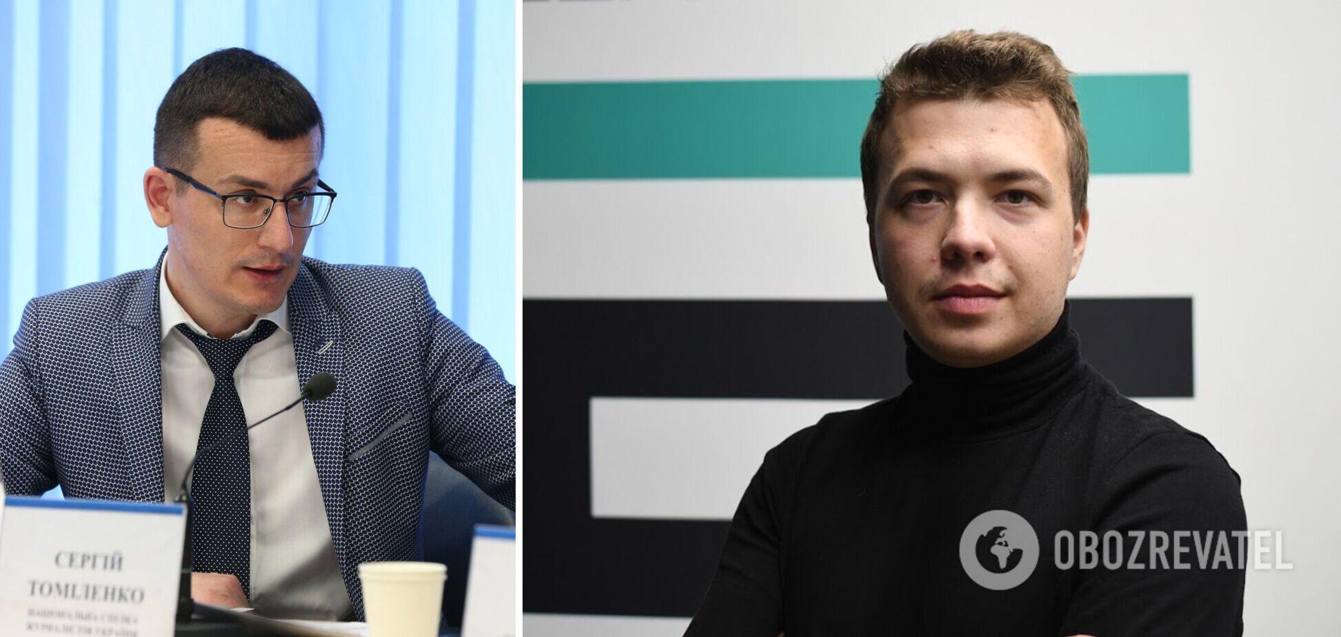 Голова НСЖУ Томіленко засудив затримання Протасевича у Білорусі