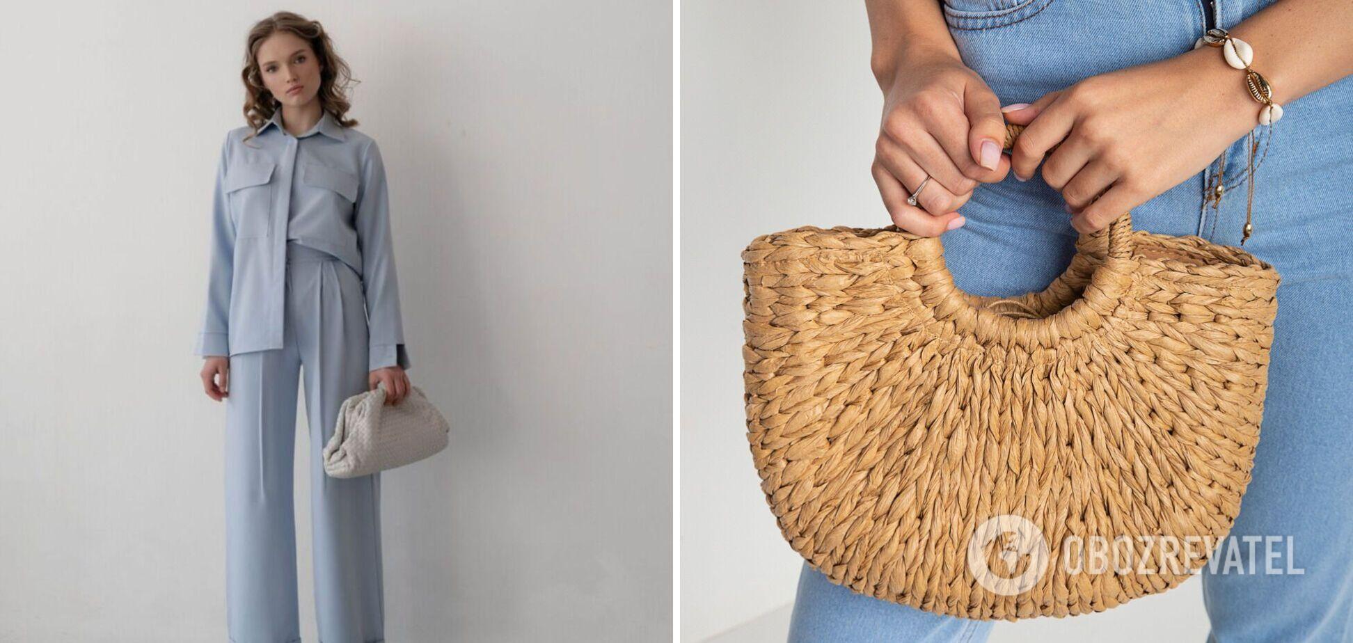 Костюмы и плетеные сумки будут на пике популярности в летнем гардеробе 2021