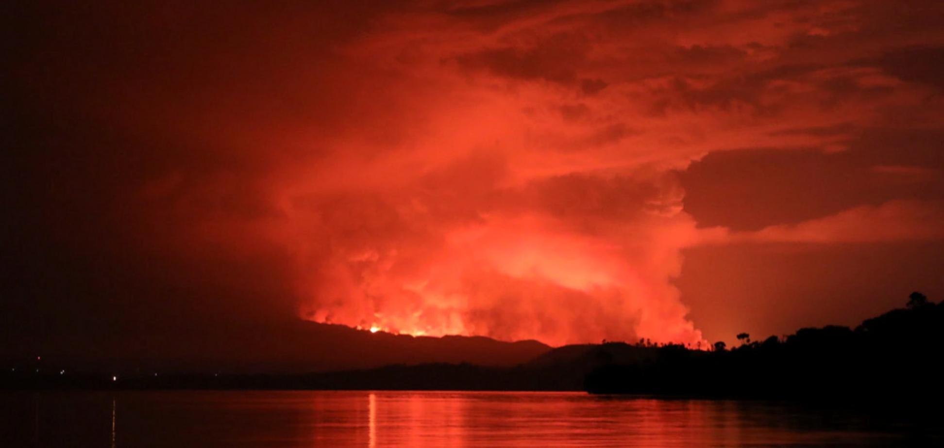 Извержение вулкана в Конго: лава чуть не сожгла город Гома