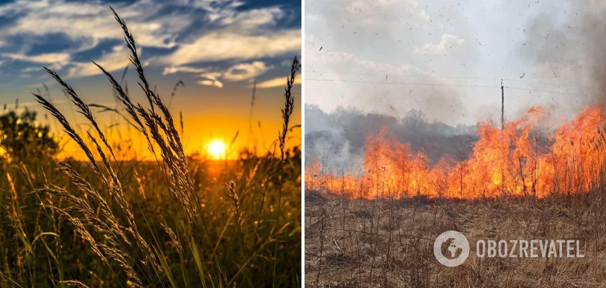 У середу на українців чекає спекотна погода, але є небезпека: синоптики уточнили, де і яка саме. Карта