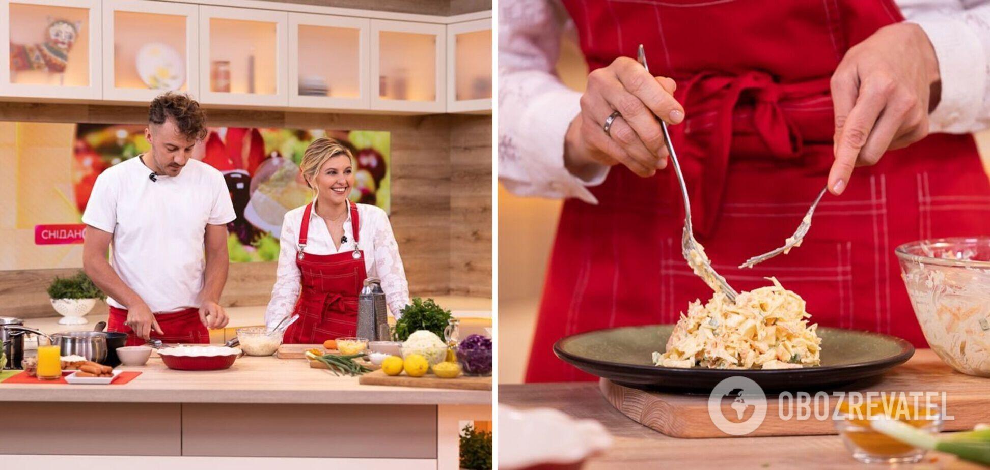 Зеленская в прямом эфире приготовила блюда из нового школьного меню. Фото и видео