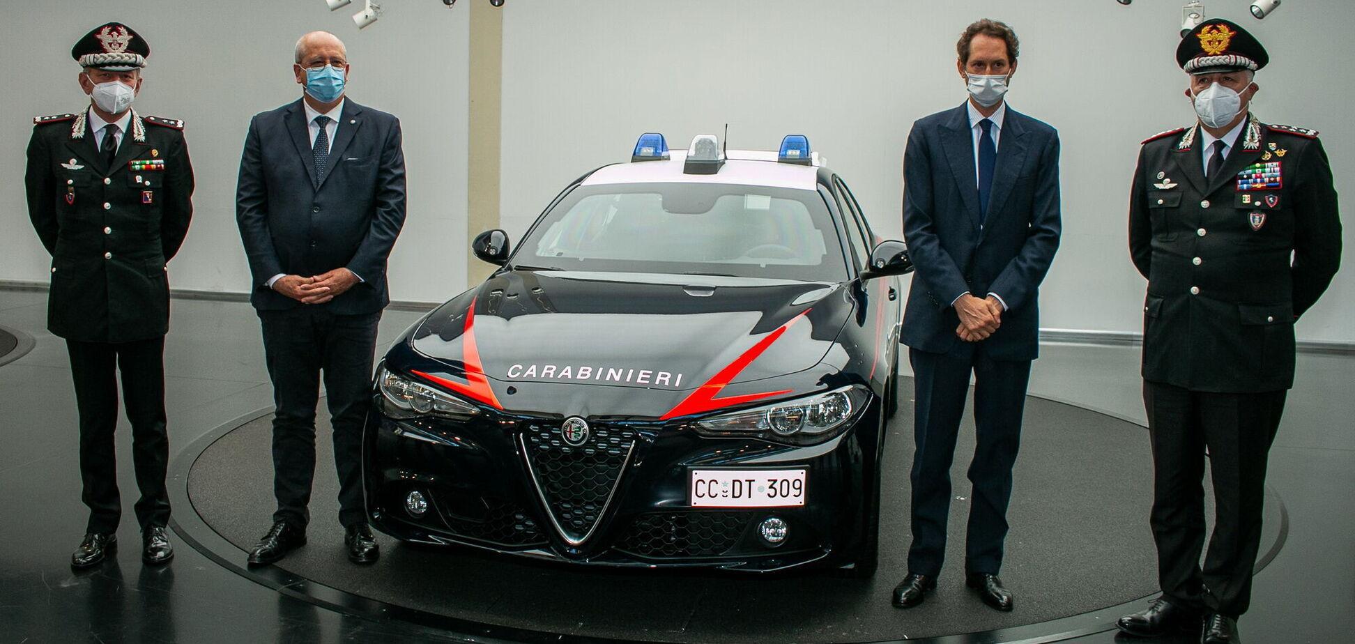 Alfa Romeo представила броньовану Giulia для карабінерів