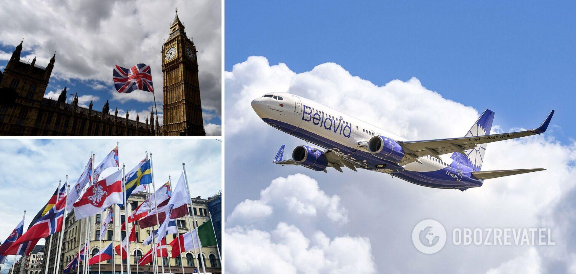 Латвія і Великобританія заборонила рейси білоруських авіакомпаній