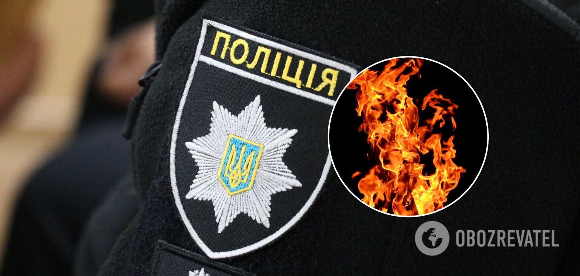 Полиция поймала подозреваемого в поджоге