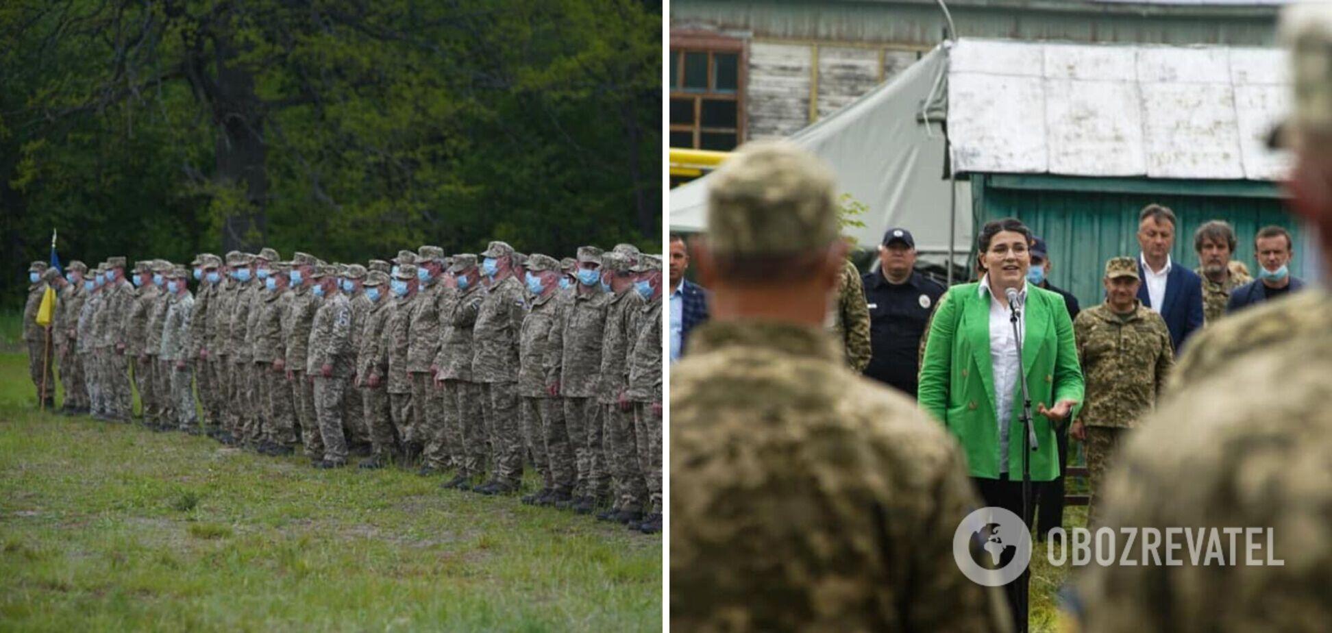 На Черниговщине завершились учения резервистов. Фото