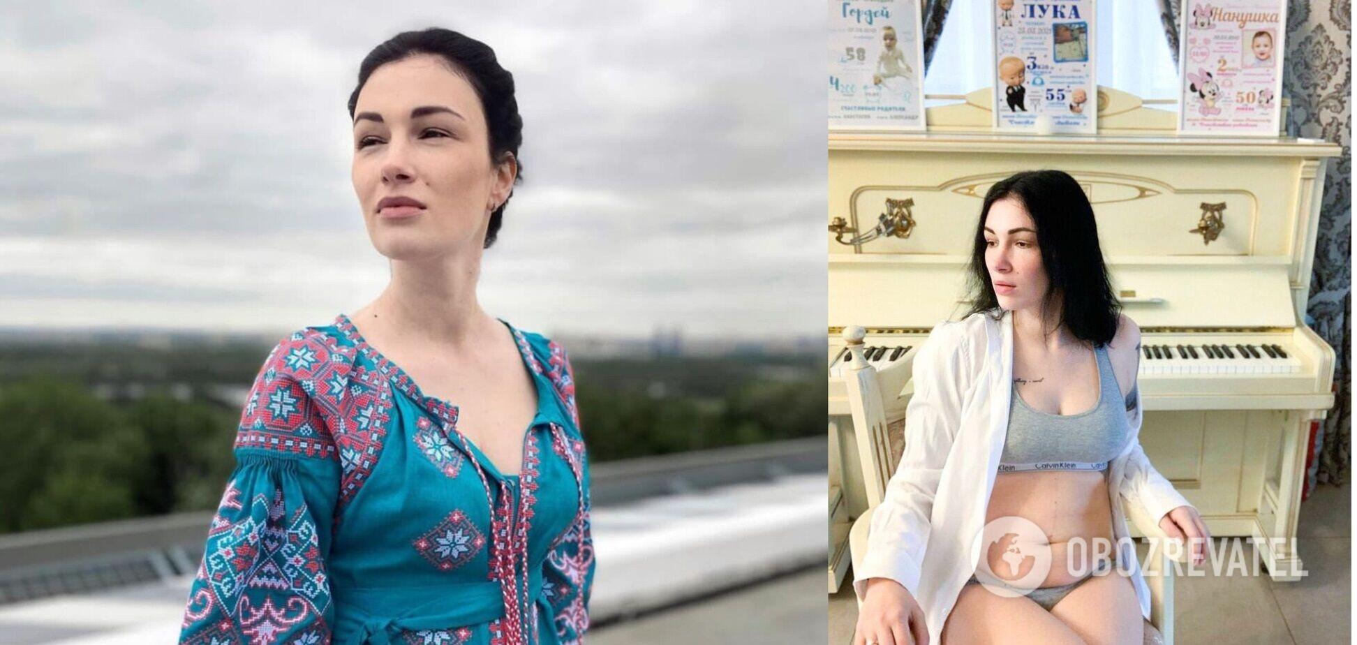 Приходько прокомментировала фото после родов в белье