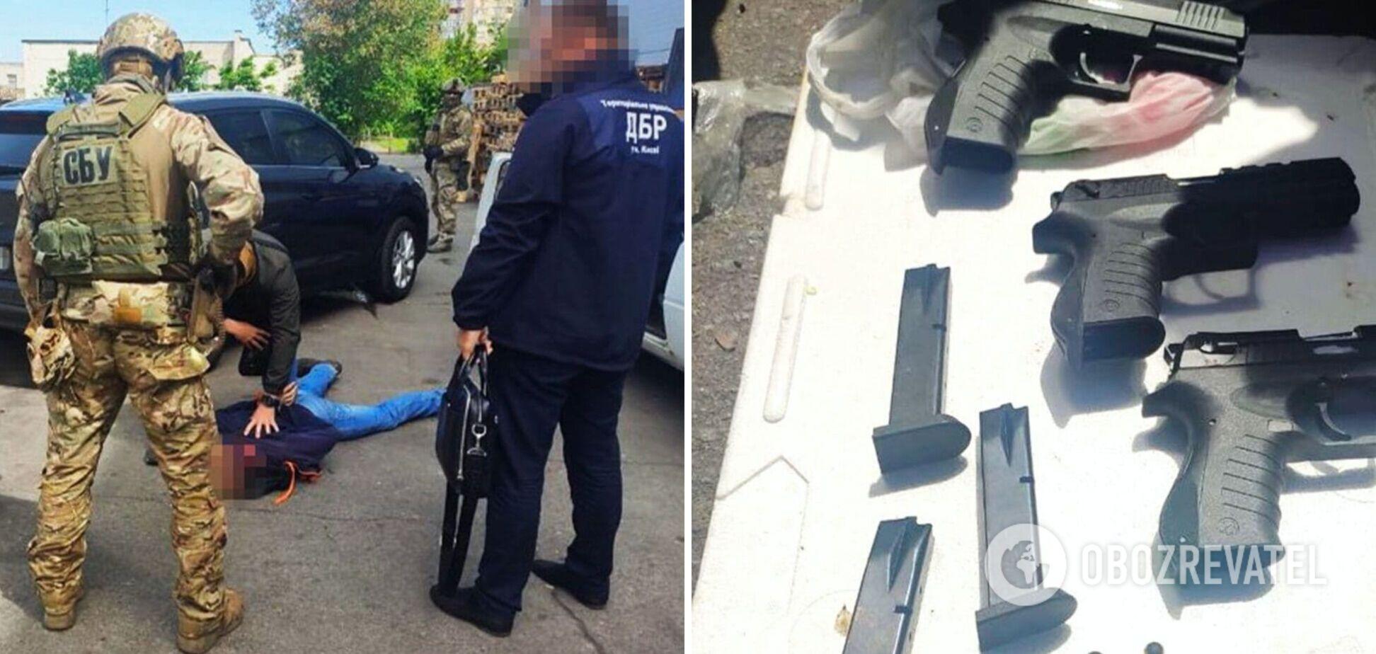 СБУ: в Черкассах нацгвардеец продавал оружие криминалитету. Фото и видео