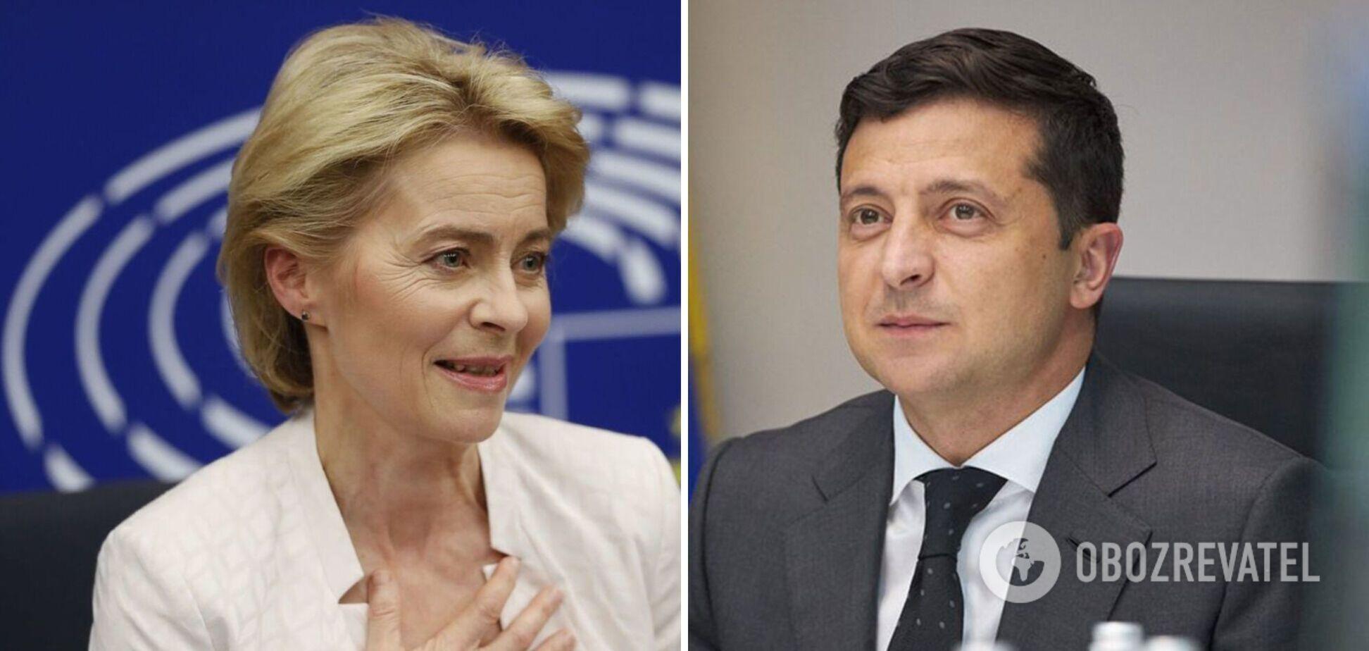 После разговора с Зеленским Еврокомиссия выделила Украине 25,4 млн евро