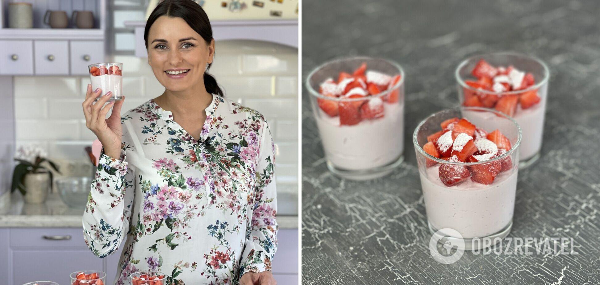 Творожный десерт с клубникой: вкусно и просто