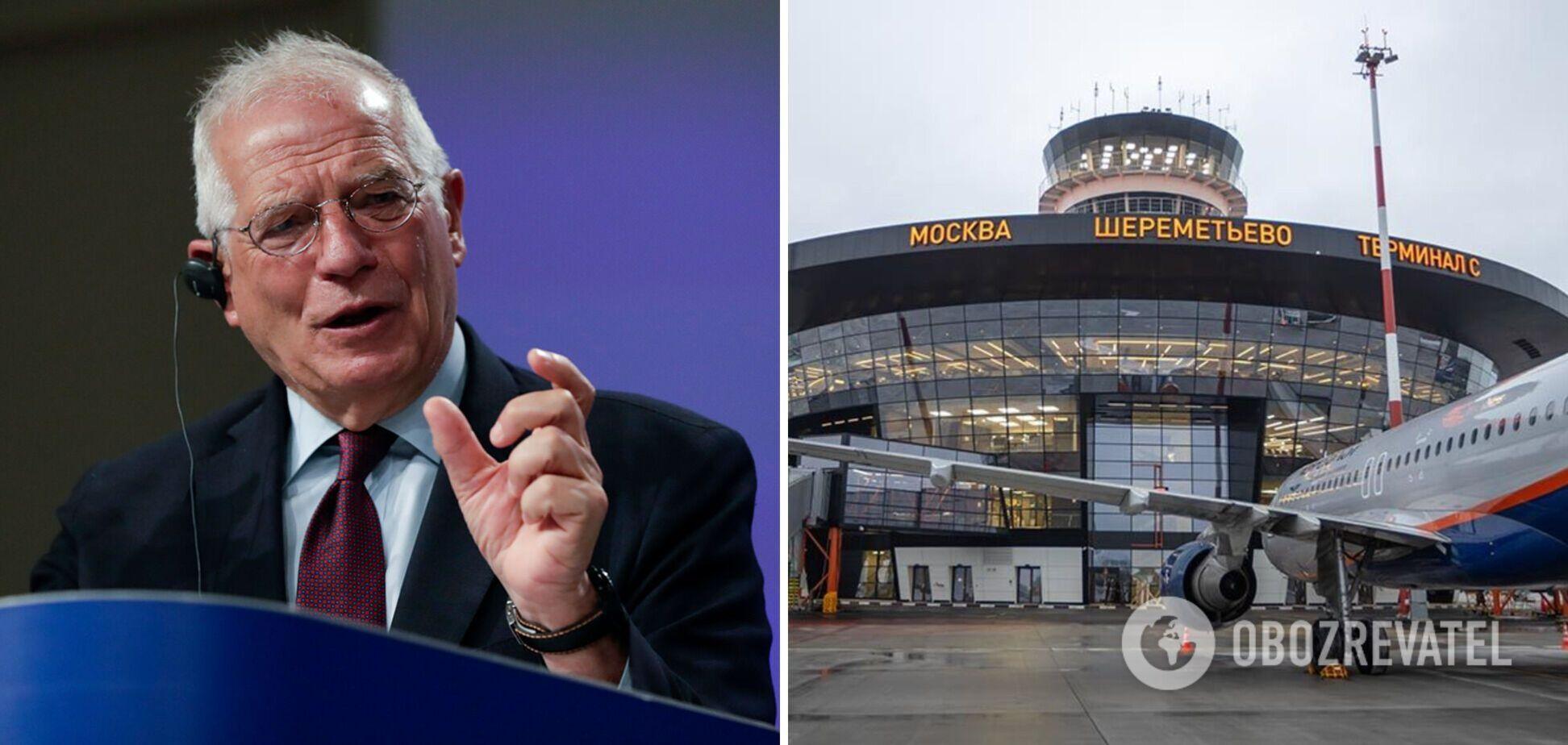 Боррель: не виключена ескалація з РФ через скасування європейських літаків