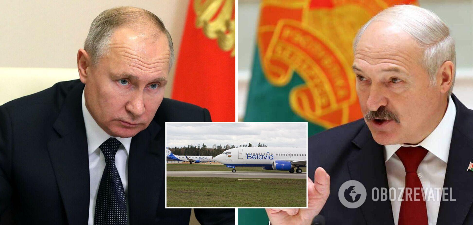 Лукашенко – Путину о запрете полетов 'Белавиа' в ЕС: замочили на всю катушку. Видео