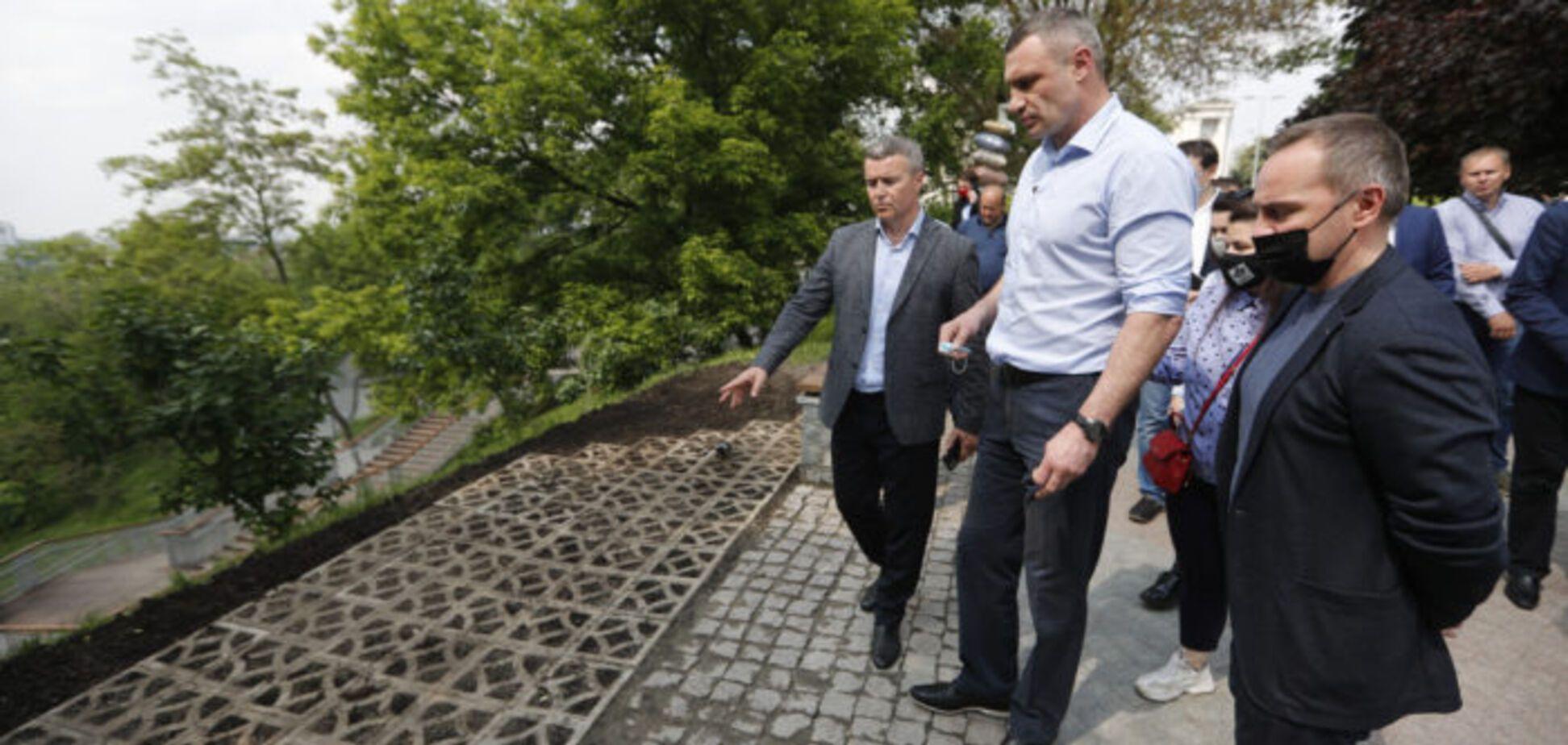 Кличко презентував другу чергу оновлення Пейзажної алеї. Відео