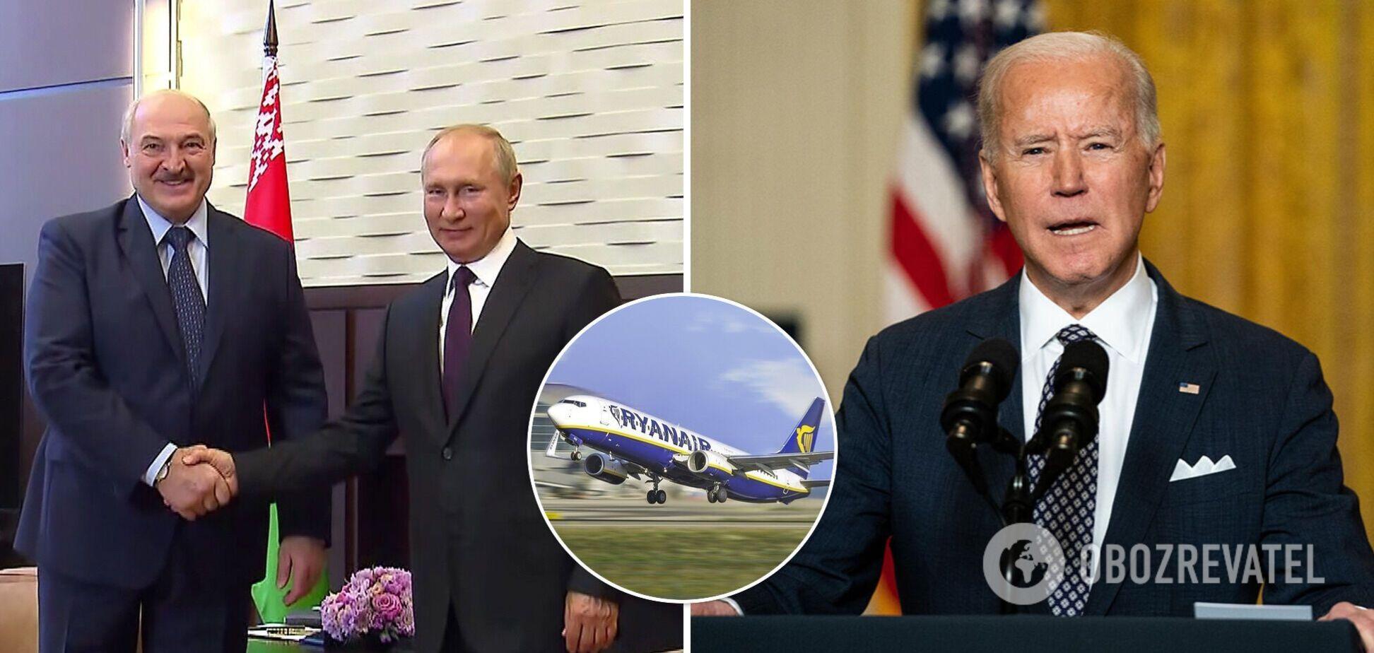 Инцидент сRyanair связали со встречей Путина и Байдена