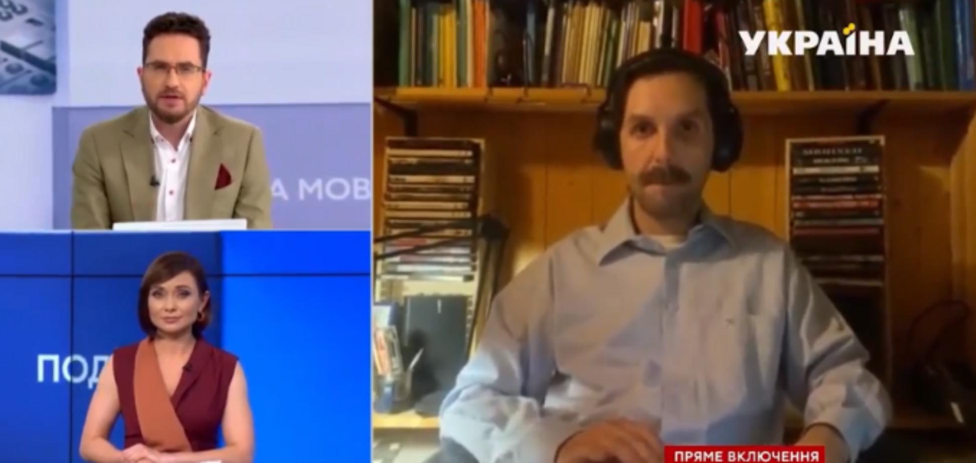 На українському телеканалі в прямий ефір потрапило відео з голою жінкою