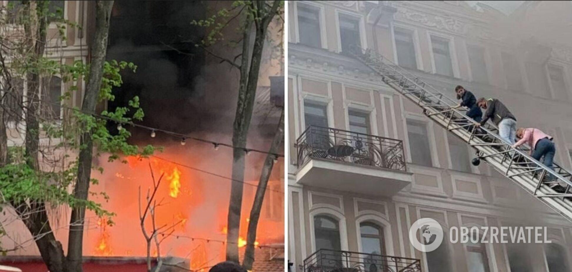 В Одесі сталася пожежа в ресторані 'Щастя'