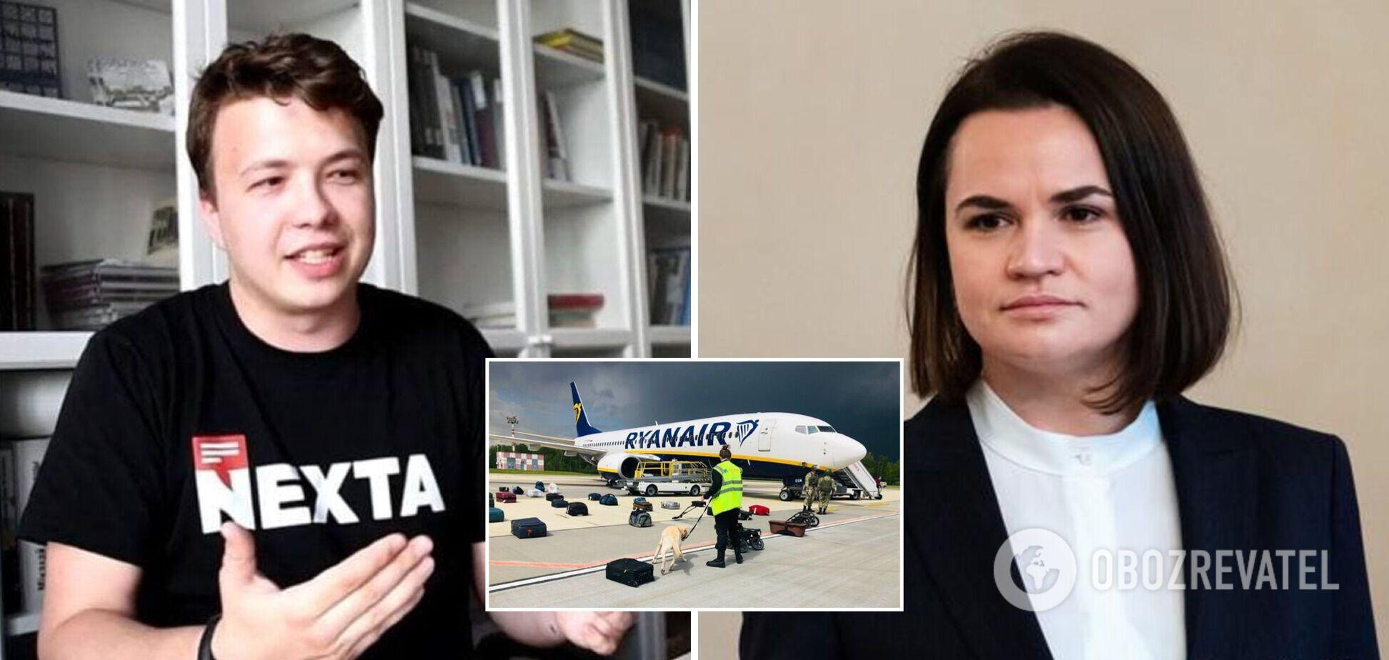 Посадка самолета Ryanair в Минске и задержание Протасевича
