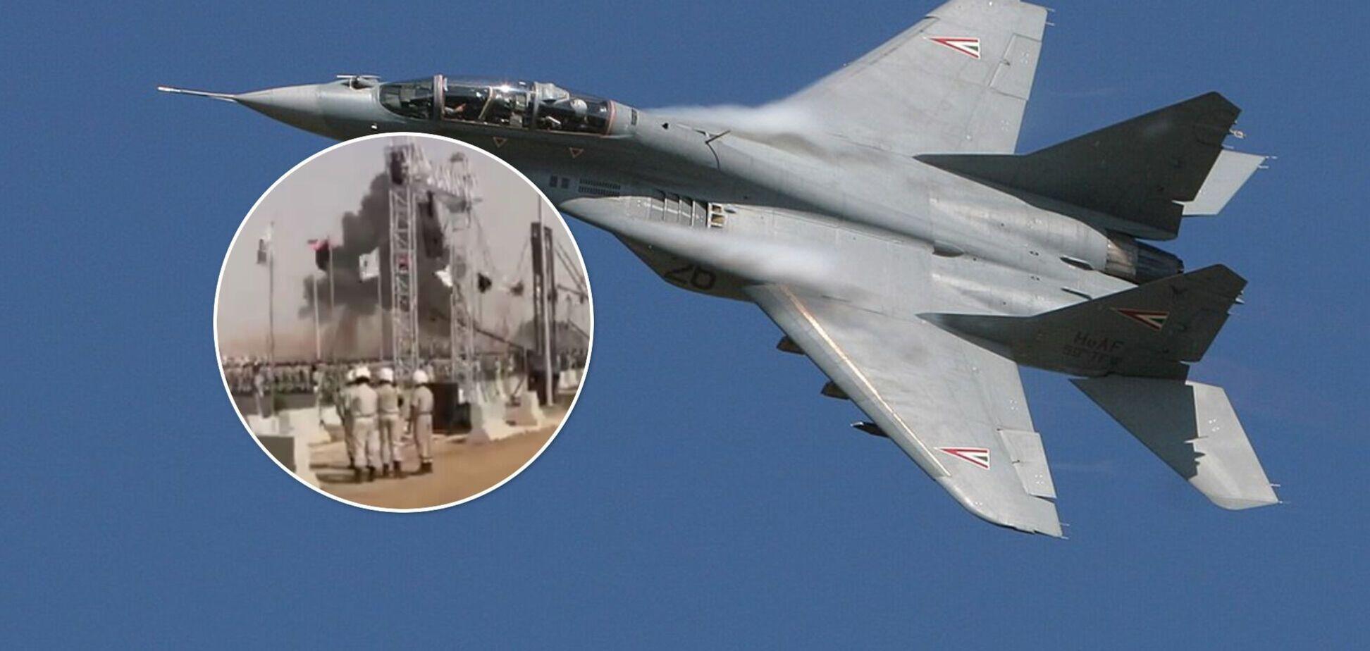 Авиакатастрофа с военным самолетом