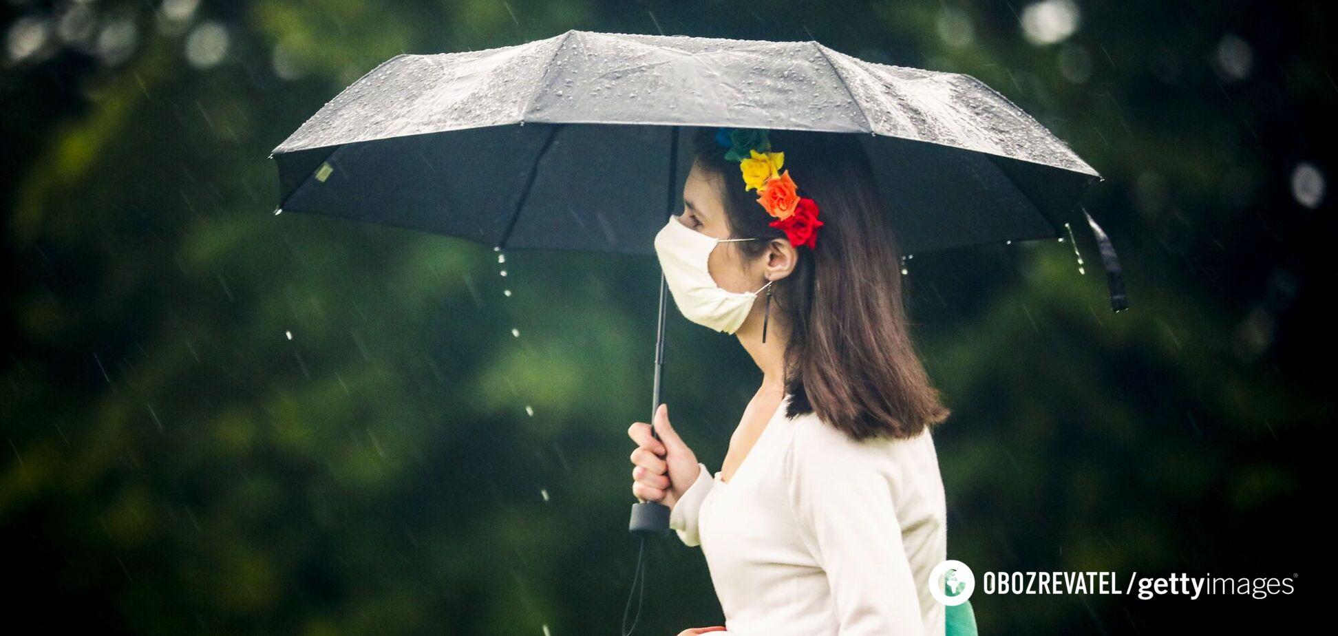 Дівчина під парасолькою