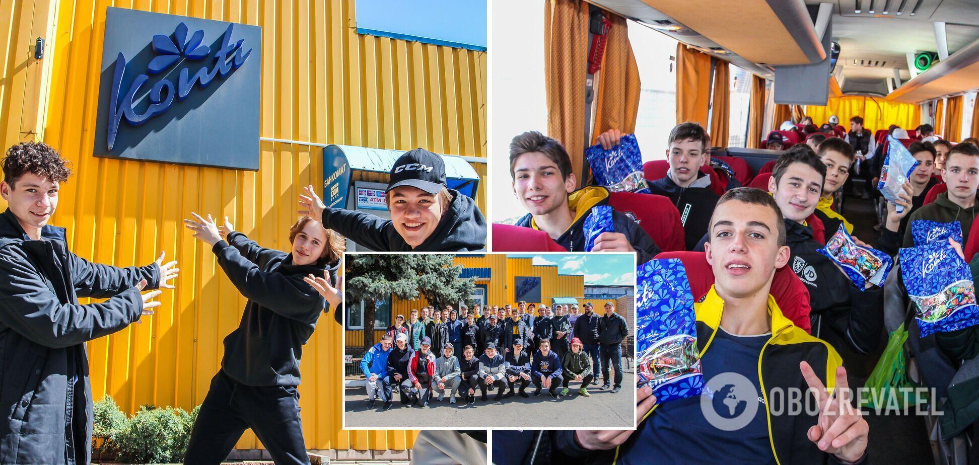 Фонд Бориса Колеснікова організував для учасників Junior Hockey Cup екскурсію на фабрику 'Конті'