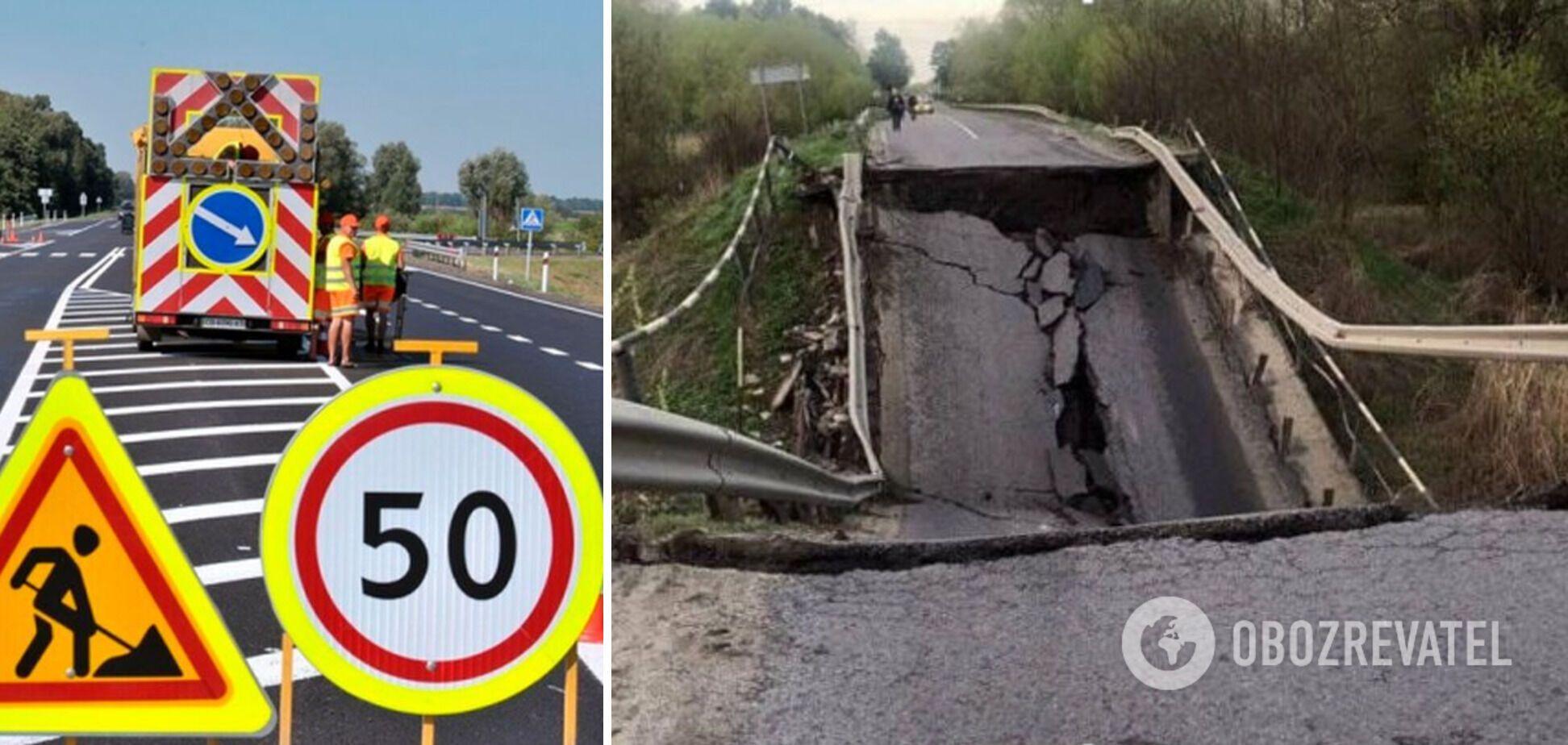 Блогер назвав можливу причину руйнування мосту на Львівщині