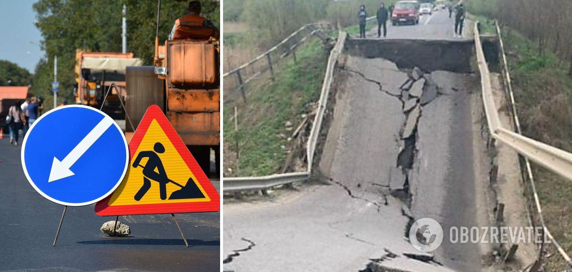 'Укравтодор' пообіцяв швидко відновити зруйнований міст на Львівщині
