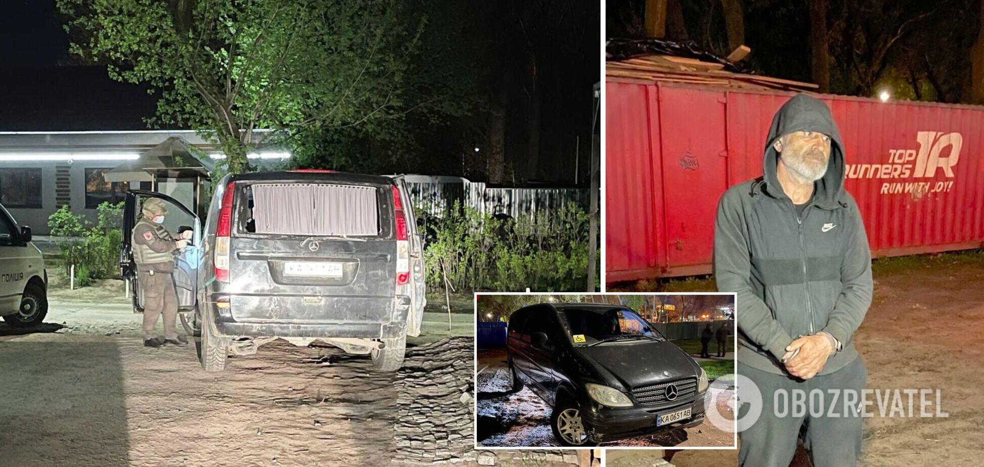 В Киеве задержали нетрезвого водителя без прав с гранатой в авто. Фото