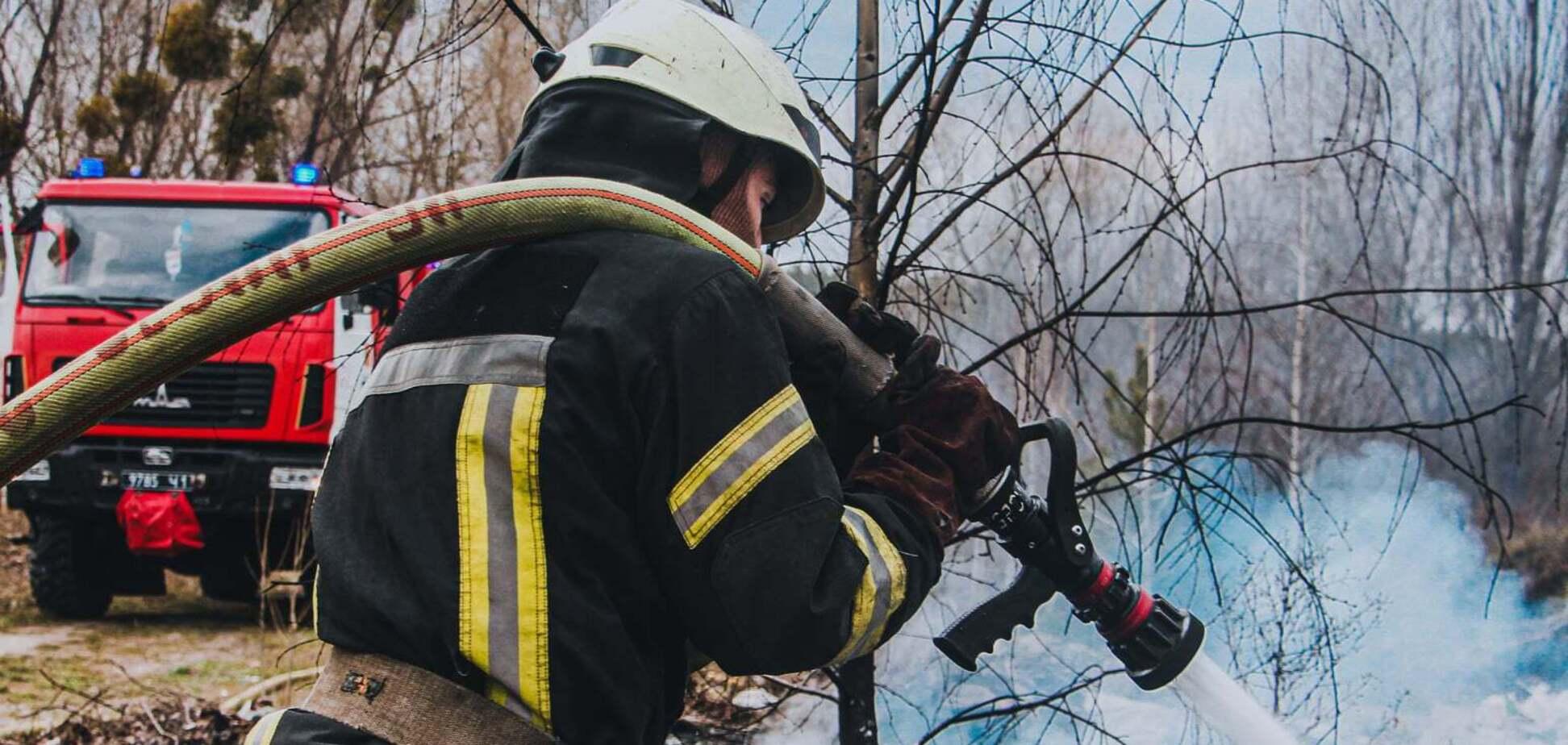 У Києві сталася пожежа на Берковецькому кладовищі