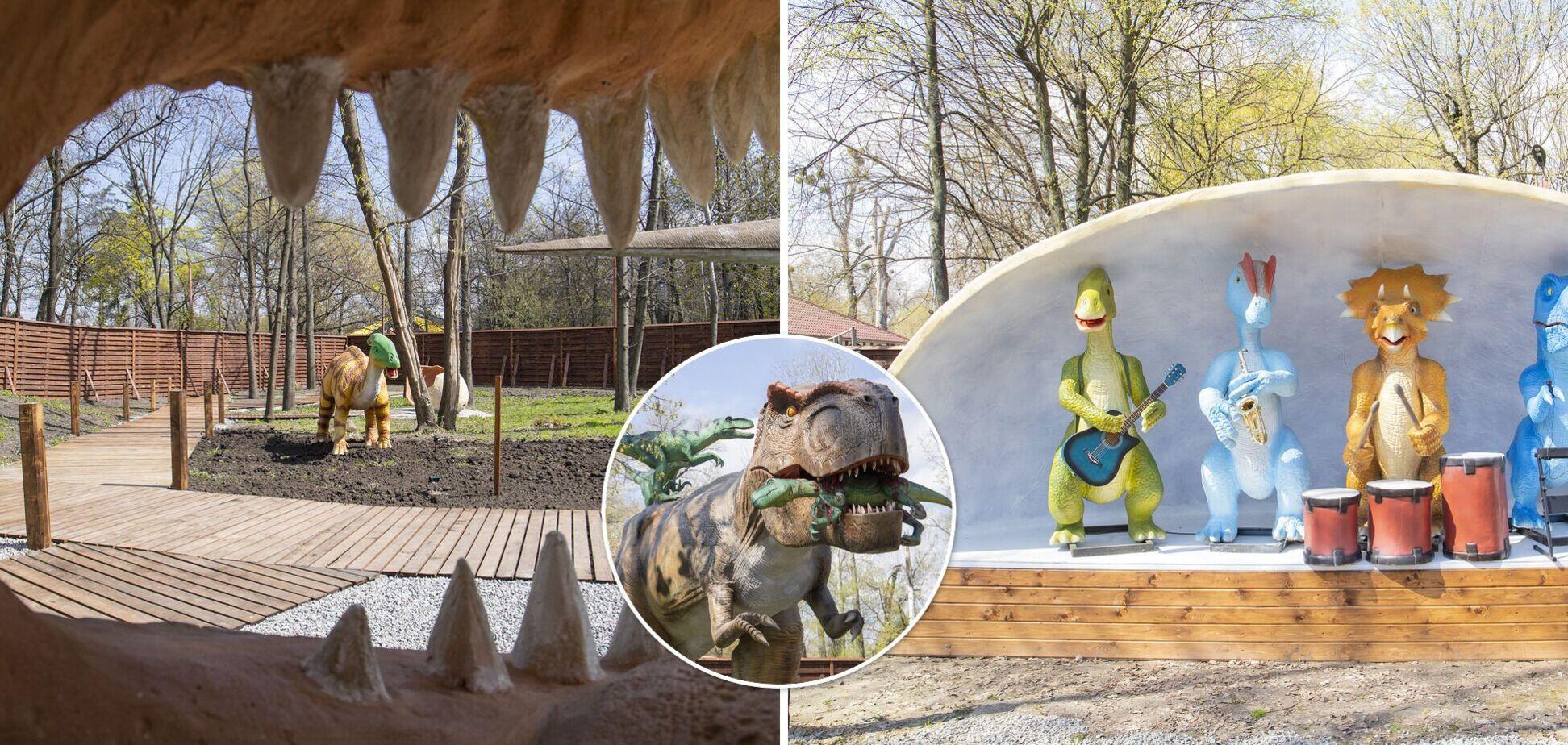 Величезні і зовсім не страшні: у Києві відкрили найбільший парк динозаврів в Україні. Фото