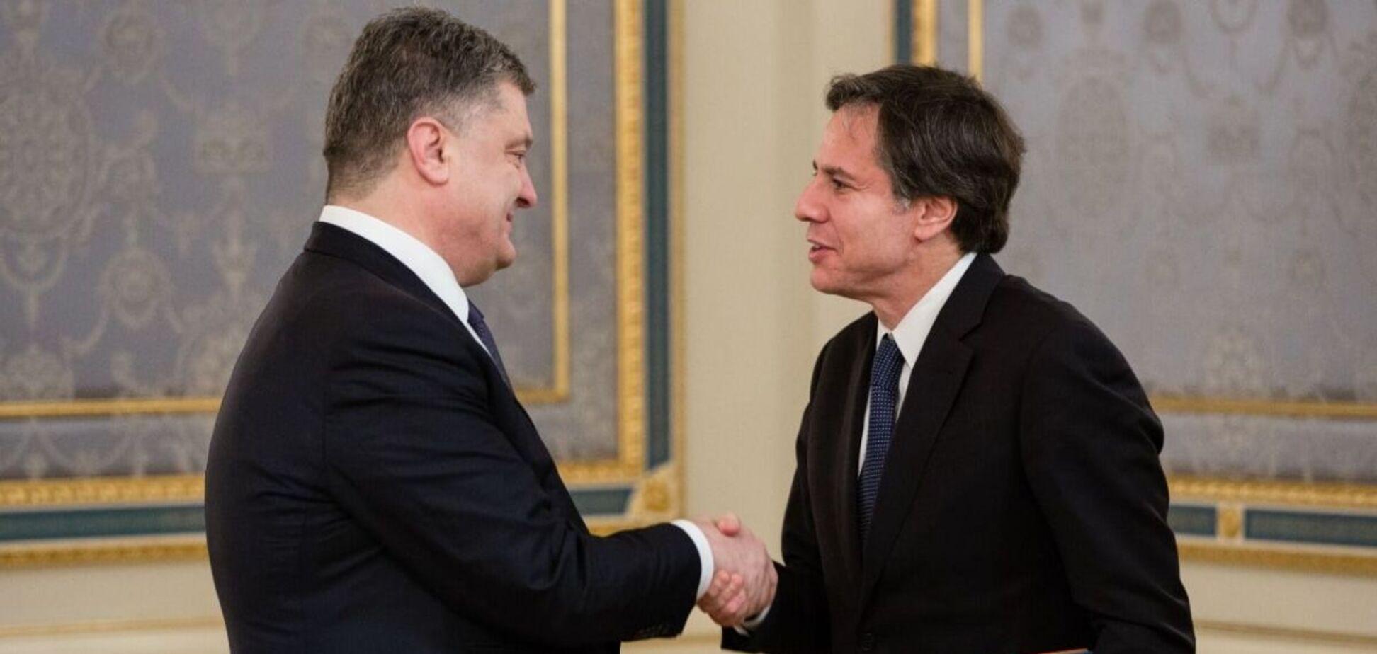 Порошенко после встречи с Блинкеном в Киеве: делегация США – это друзья Украины