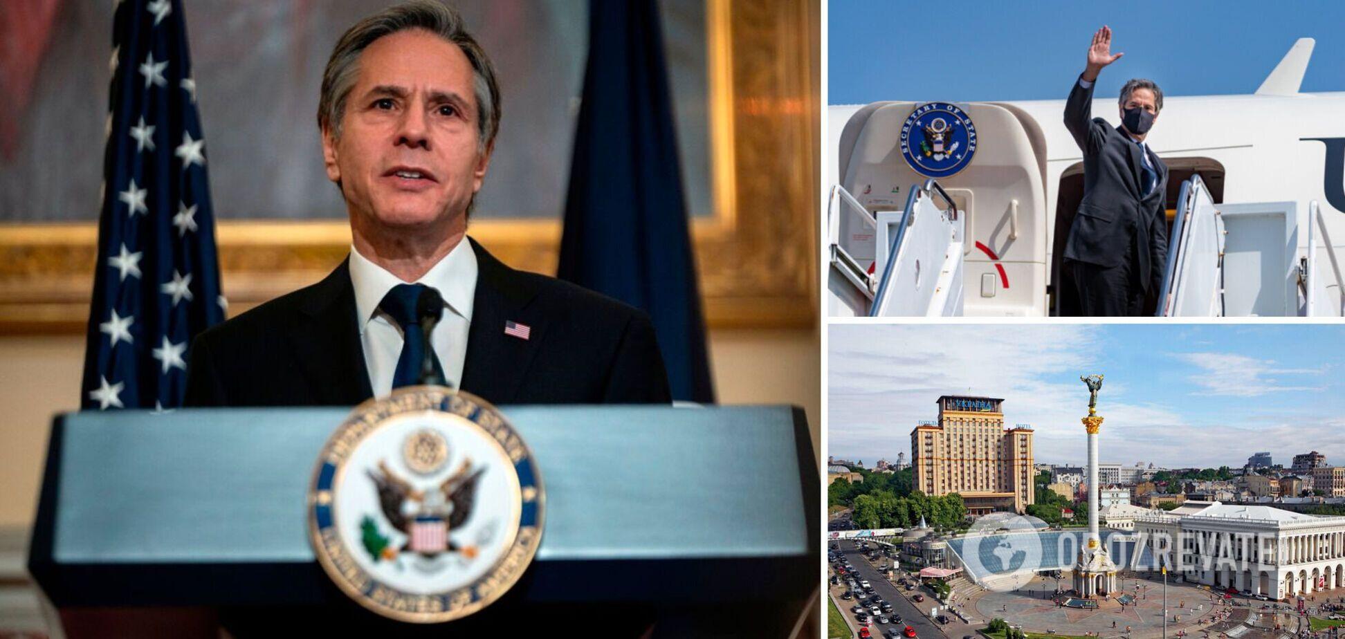 Госсекретарь США Энтони Блинкен осуществил первый визит в Украину