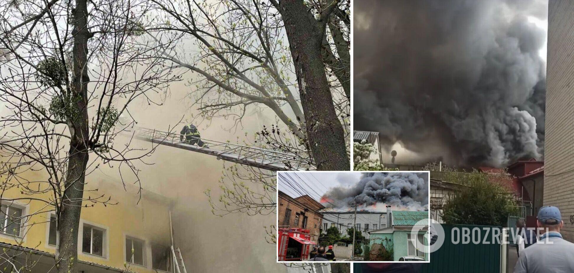 В Виннице сгорел офисный центр: погибла 21-летняя девушка. Фото и видео