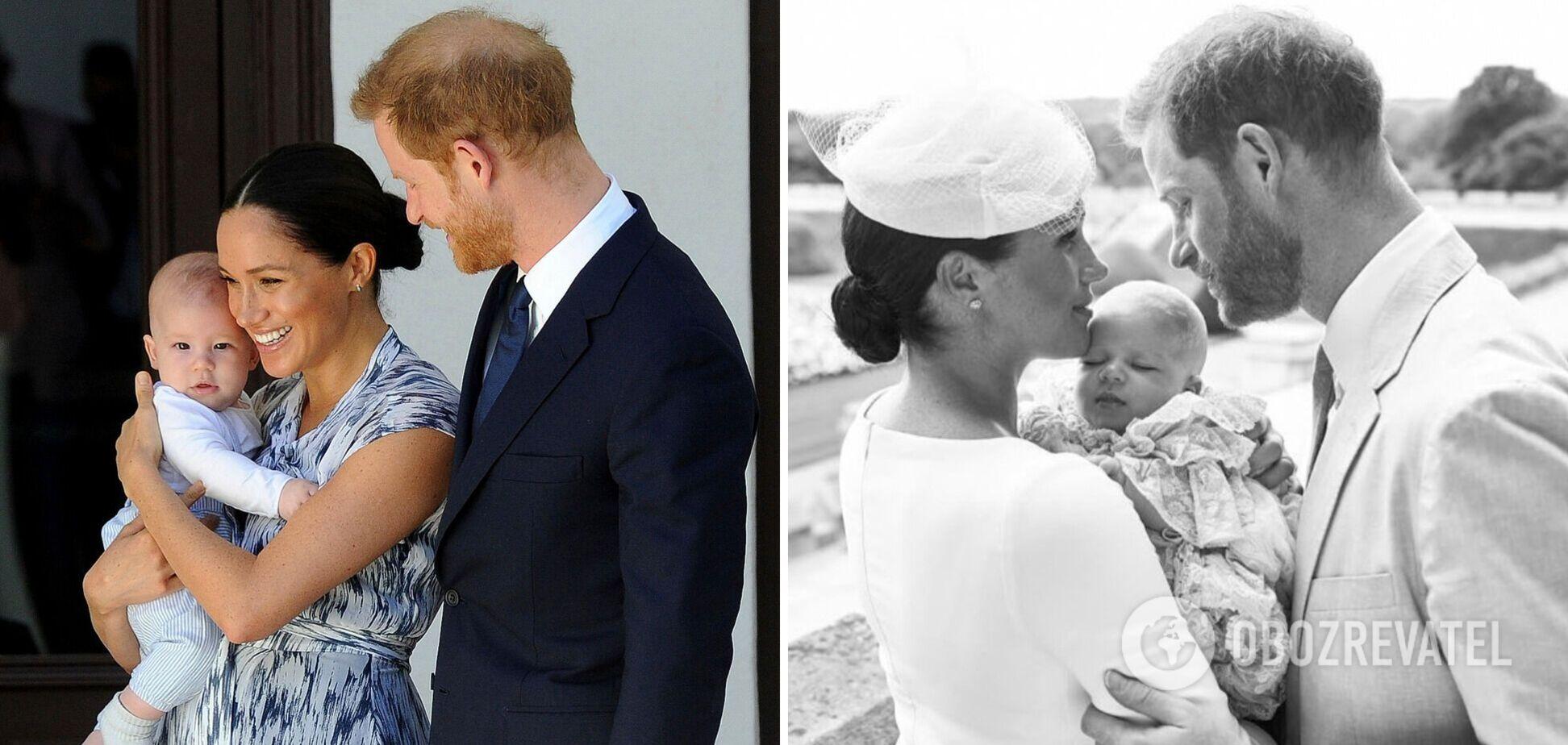 Меган Маркл і принц Гаррі з сином Арчі