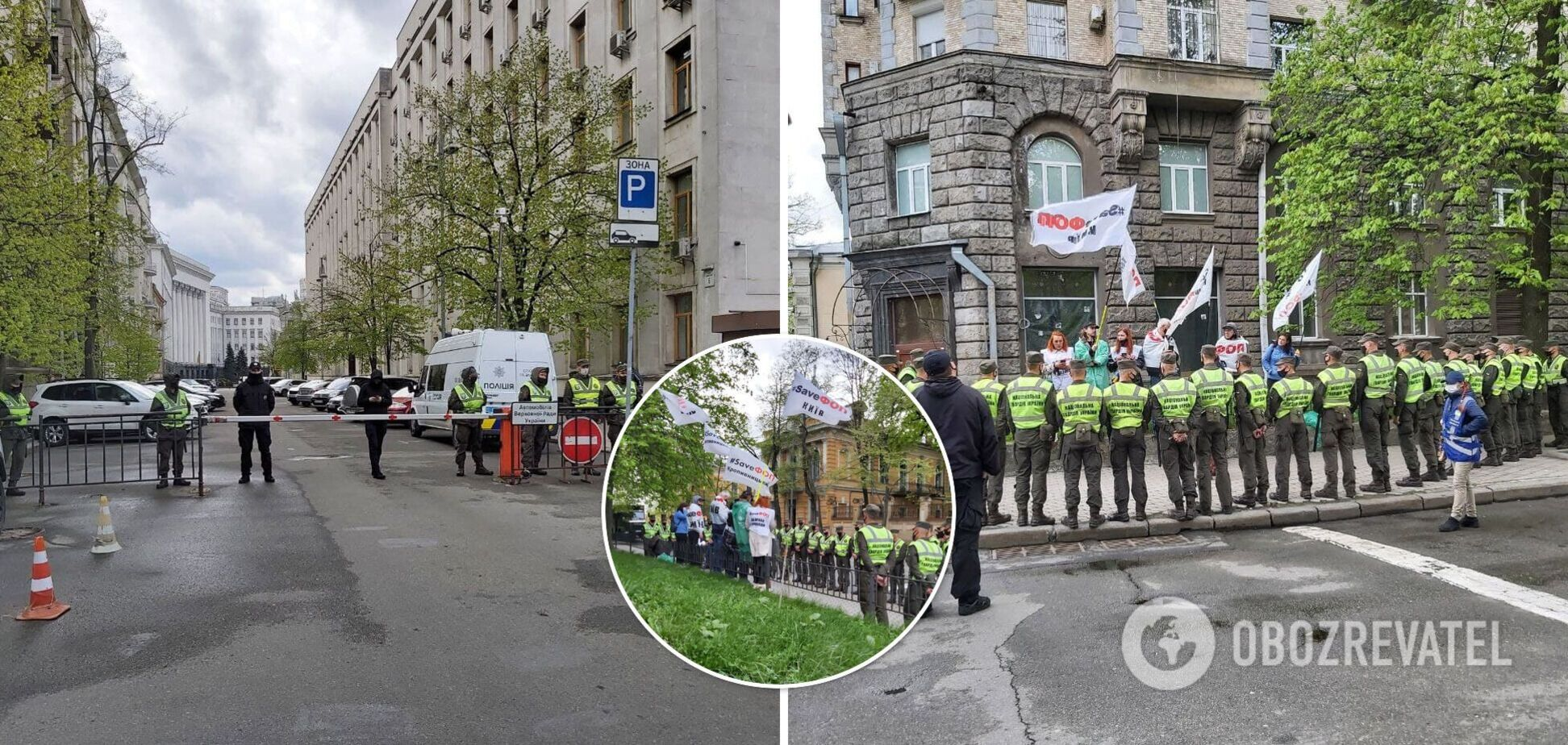 У Києві ФОПи намагалися прорватися до Офісу президента з вимогами до Блінкена: є затримані. Фото