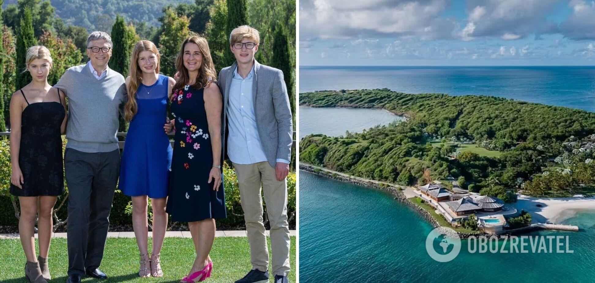 Жена Гейтса арендовала остров, чтобы спрятаться с детьми от СМИ