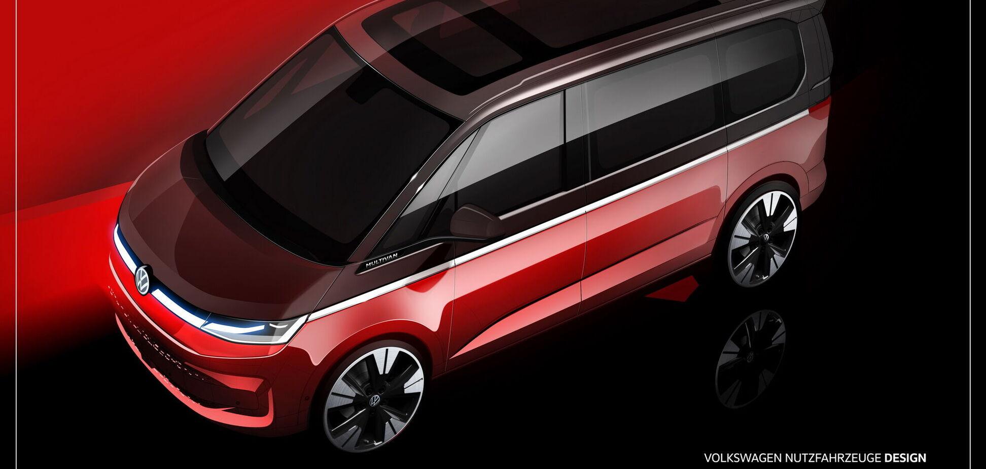 Volkswagen показав нові зображення Т7 Multivan
