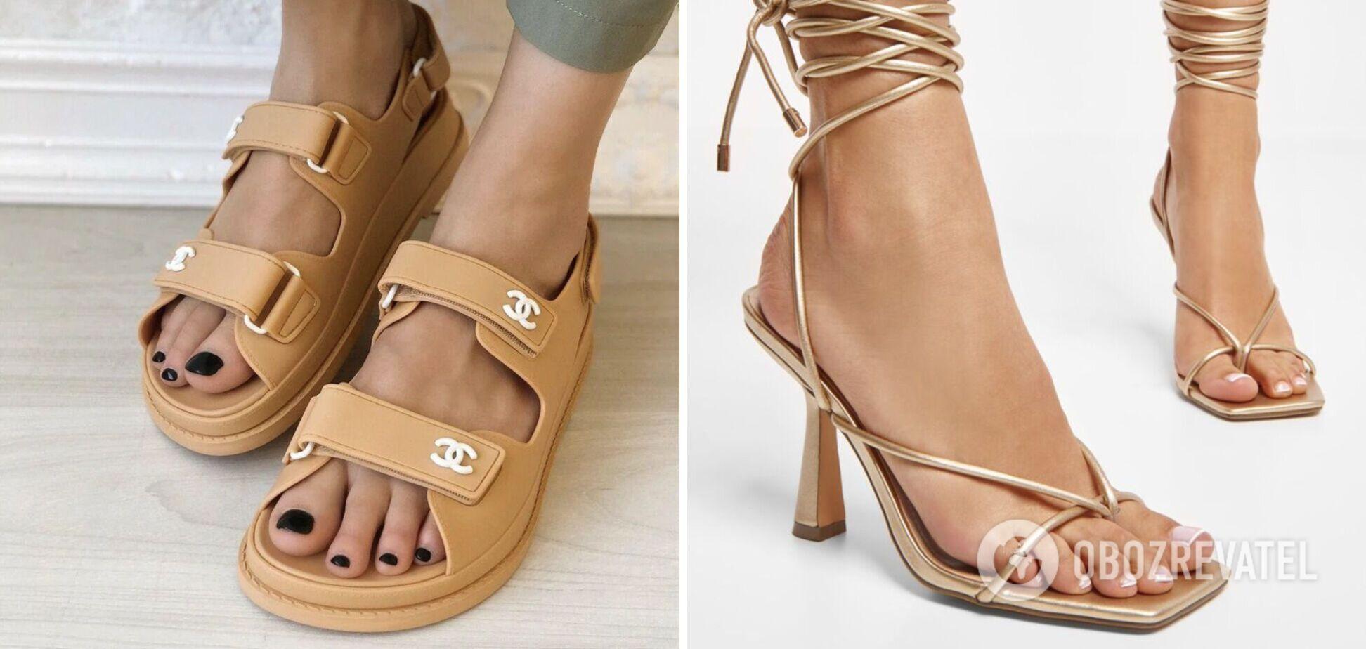 У сезоні весна-літо 2021 представлено взуття на підборах і на низькій підошві