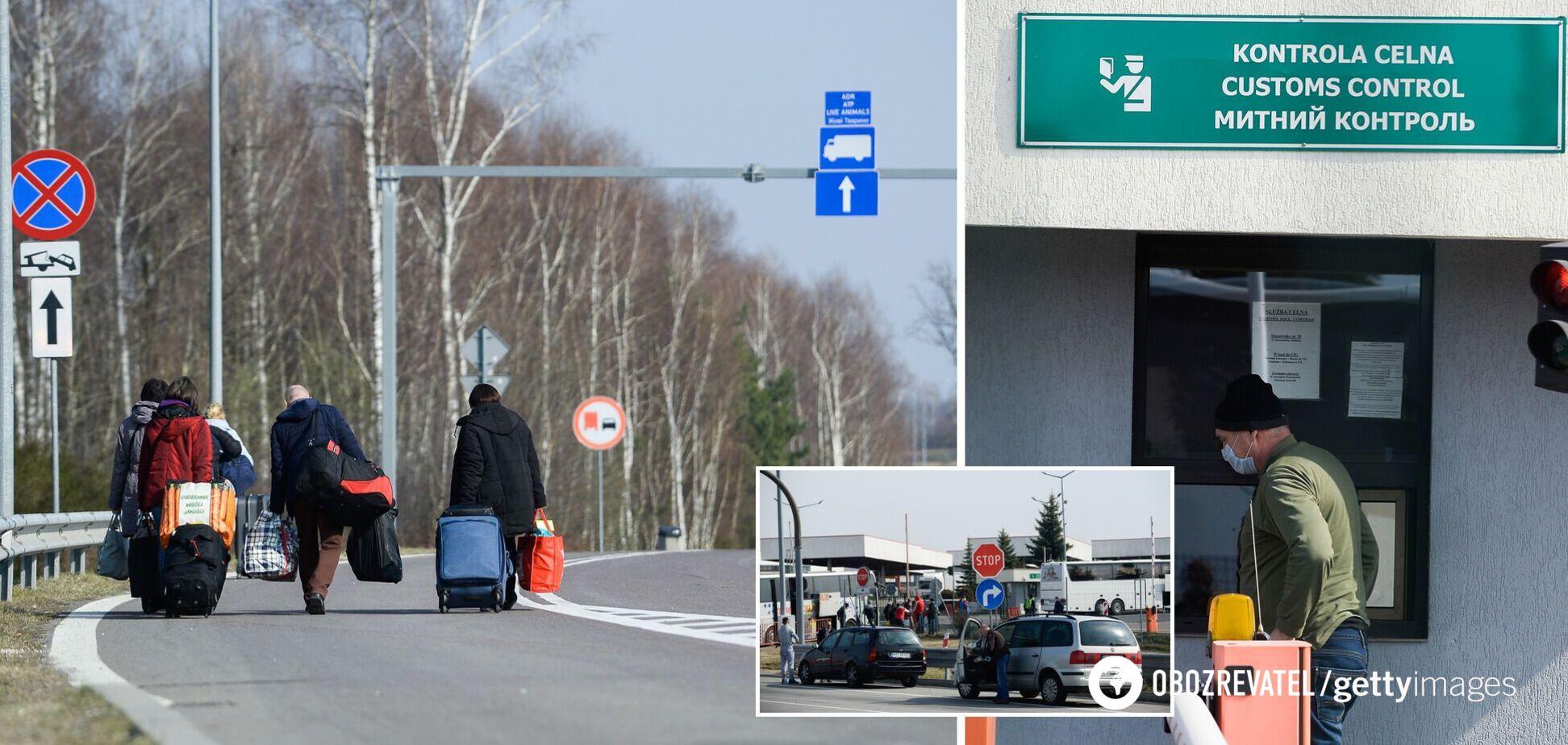 Українці кинулися на заробітки в Європу: на кордоні з Польщею утворилися черги. Відео