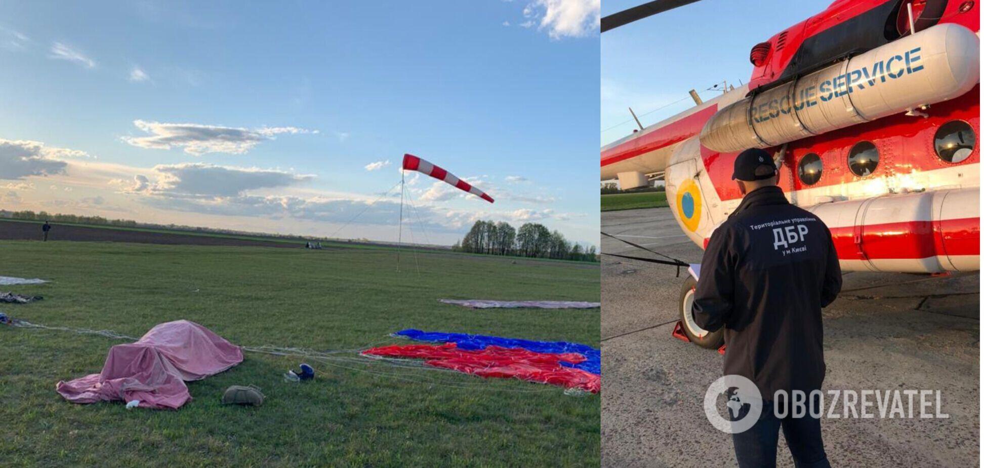 На Чернігівщині під час стрибка з парашутом загинув рятувальник. Фото