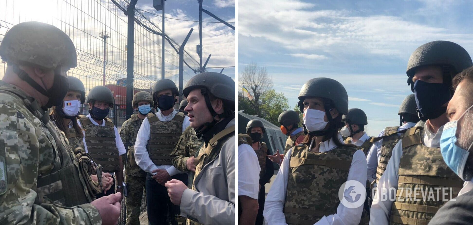 Главы МИД стран ЕС побывали на Донбассе и узнали о провокациях террористов. Фото
