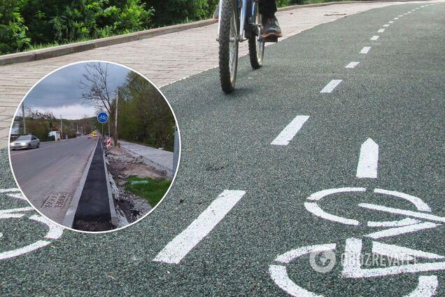 Во Львове заметили очень узкую велодорожку: в сети высмеяли. Фото