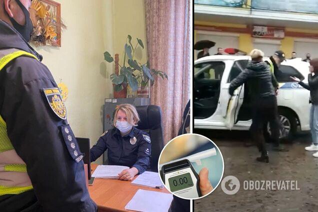 На Львовщине женщины напали на полицейских, которые остановили пьяного водителя. Видео