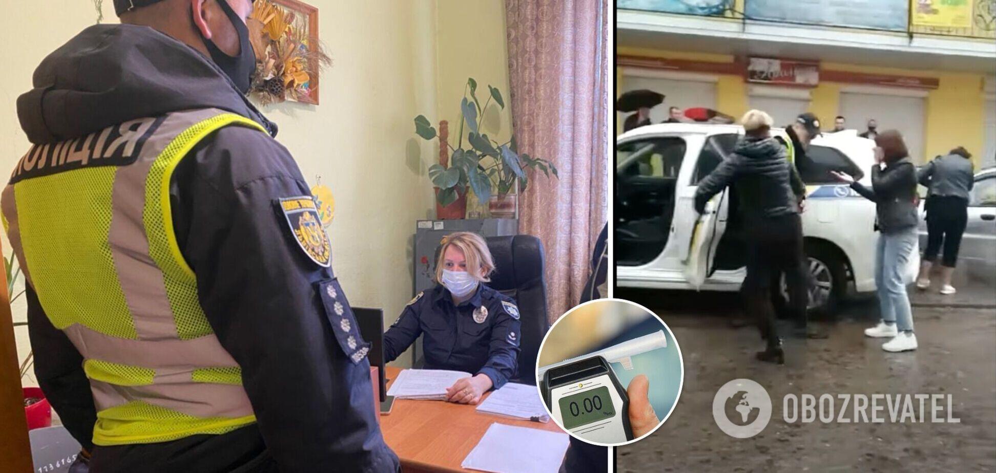 На Львівщині жінки напали на поліцейських, які зупинили п'яного водія. Відео