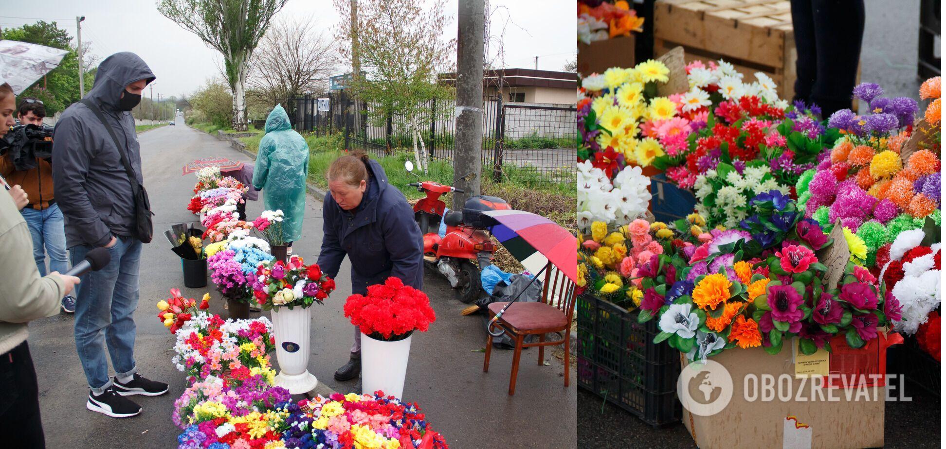 У Дніпрі провели черговий рейд щодо стихійної торгівлі штучними квітами та вінками