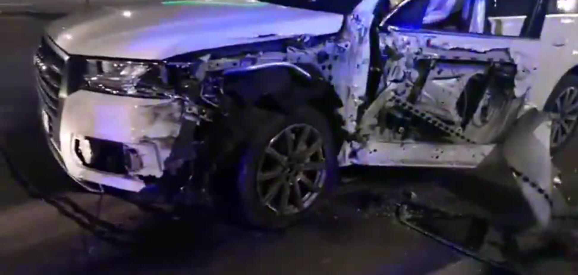 У Києві п'яний водій на Audi врізався у вантажівку