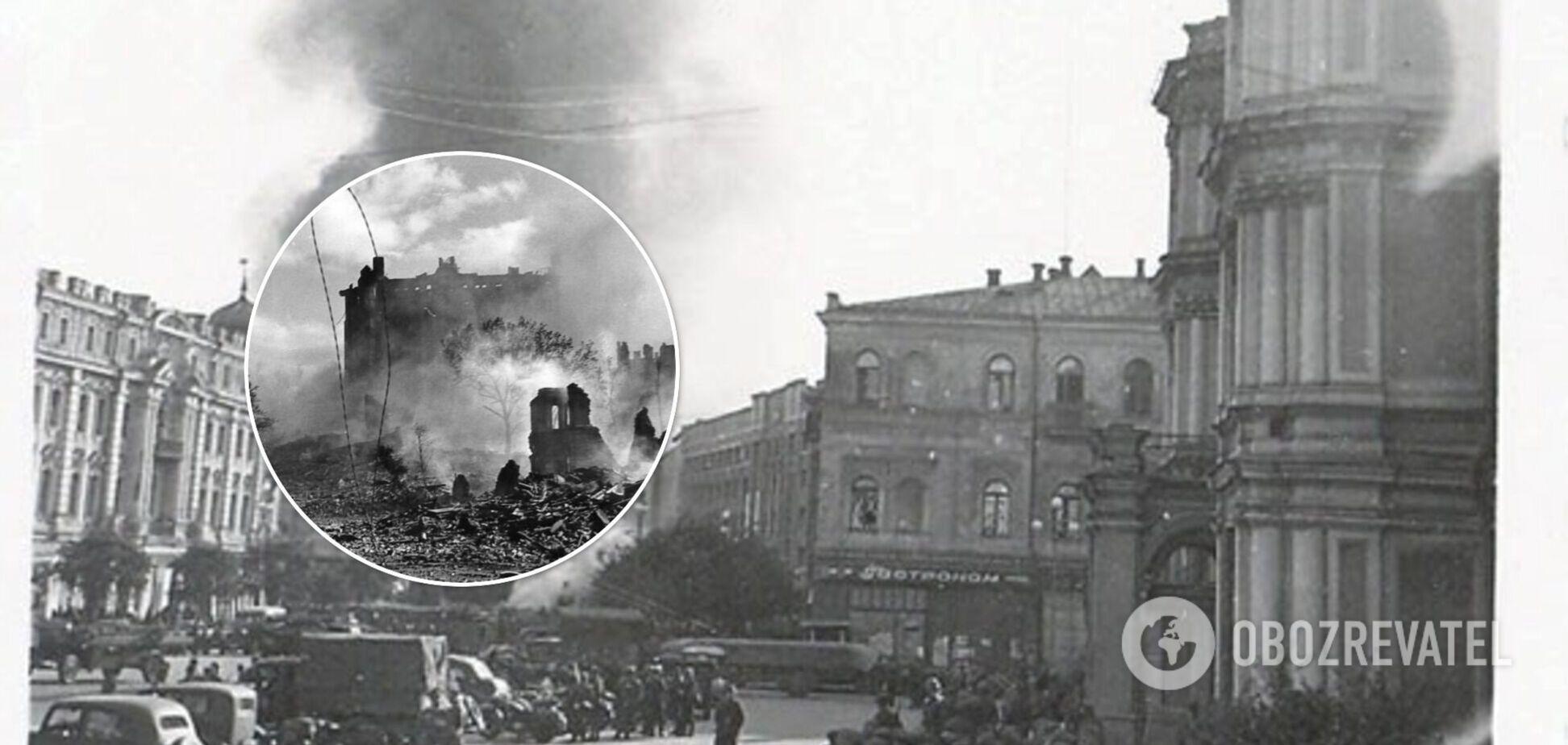 Хто знищив Хрещатик в 1941 році. фото