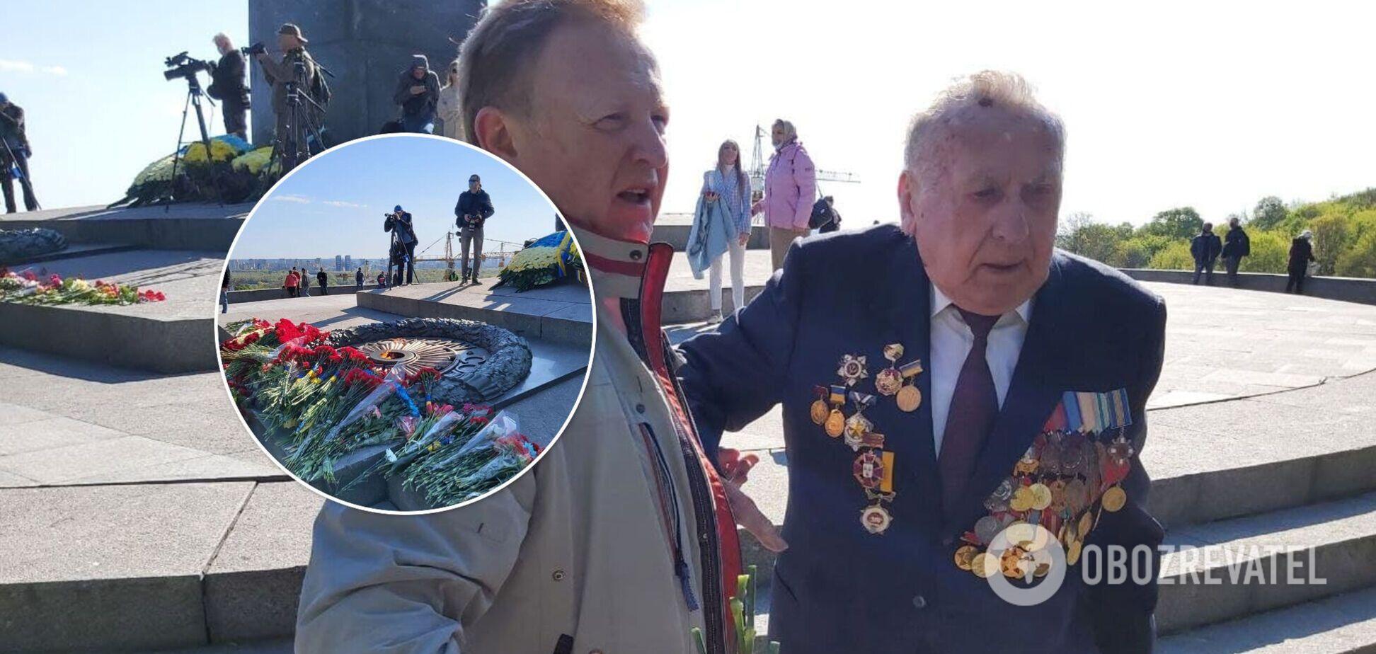Коммунисты, оскорбление ветерана АТО и националисты: как прошел День Победы в Киеве: Фото, видео