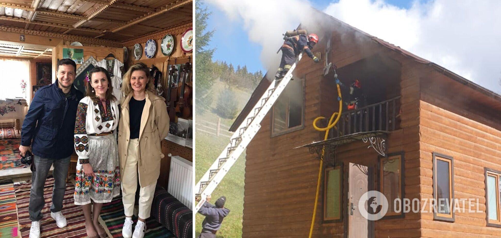 На Прикарпатье горел комплекс отдыха, который на днях посетил Зеленский. Фото