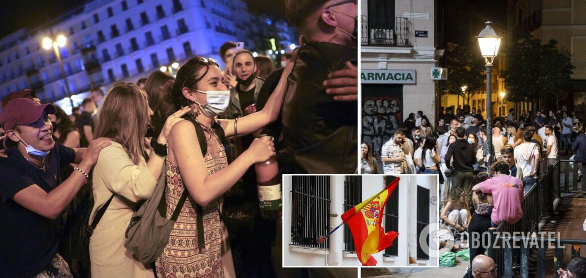 В Іспанії після скасування режиму НС масово порушували карантин: фото гулянь