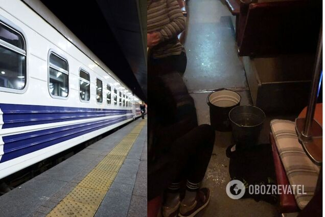 """""""Укрзалізниця"""" отреагировала на скандал в сети из-за потопа в поезде"""
